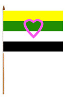 "Flag – Skoliosexual Flag on Stick 12"" x 18"""