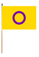 "Flag – Intersex Flag on Stick 4"" x 6"""