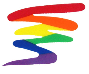 Rainbow Squiggle Reflective Sticker