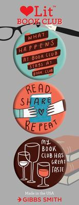 Book Club Button Assortment