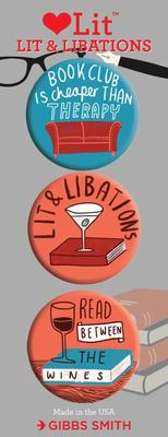 Lit and Libations Button Assortment