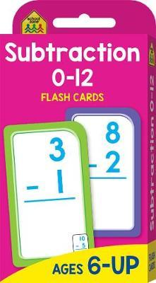 Subtraction 0-12 (School Zone Flashcards)