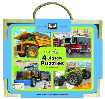 Trucks - Green Start Wooden Puzzles
