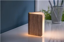 Large walnut mini book light