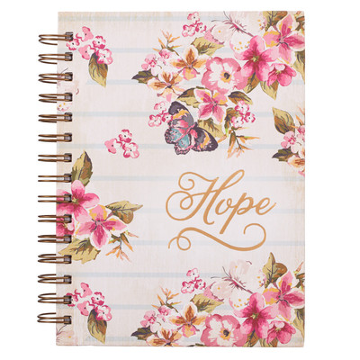 Journal Hope Floral Wirebound