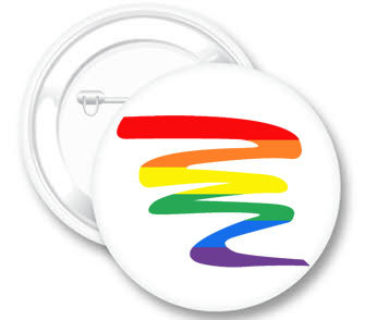 Badge - Rainbow Squiggle