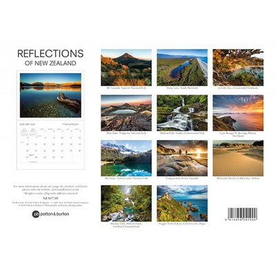 Reflections of New Zealand 2019 Calendar