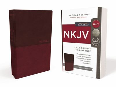 NKJV Value Thinline Bible Compact Burgundy Red Letter Edition
