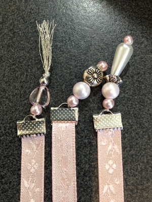 RE Bookmark - Pink Satin Patterned