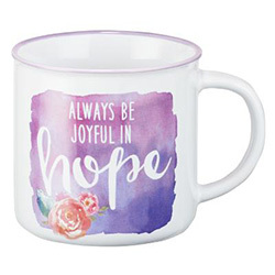 Mug Be Joyful In Hope Watercolor Purple
