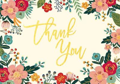 Floral Frame Thank You Notes (8116)