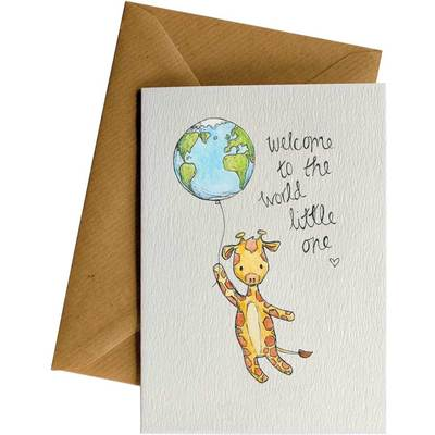 Card LD Welcome Giraffe