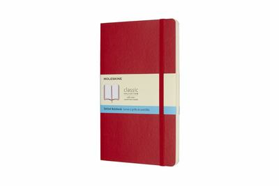 Large Scarlet Red Notebook Dotted