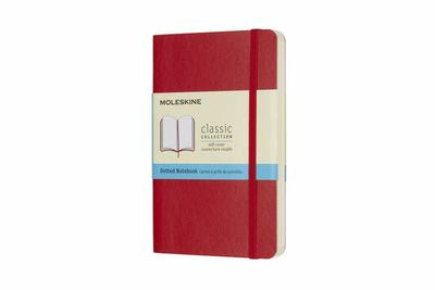 Moleskine Classic Soft Cover Notebook Dot Grid Pocket Scarlet M-QP614F2