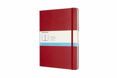 Moleskine Classic Hardcover Extra Large Notebook Dot Grid: Red