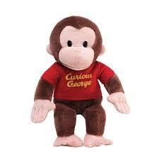 Small Curious George Plush Red Shirt 30cm