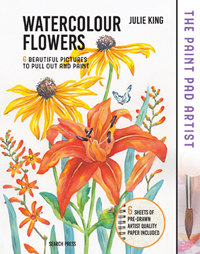 The Paint Pad Artist: Watercolour Flowers - Beautiful Pictures to Pull-Out and Paint
