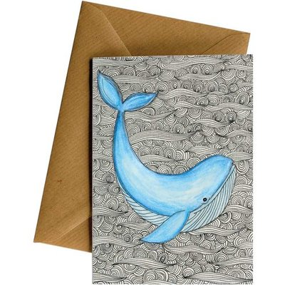 Card LD Pattern Whale