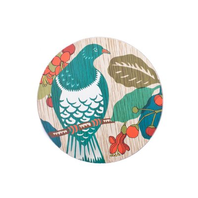 Coaster - Screenprint Kereru
