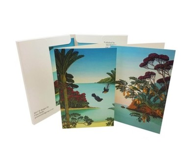 Notecards - Fantails/Herald of Spring  pk8