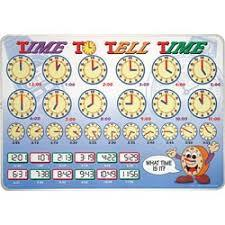 Time to Tell Time Learning Placemat