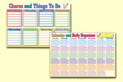 Calendar and Daily Organiser Placemat Laminated Double Sided