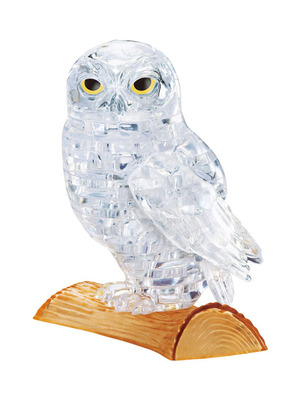 Clear Owl Crystal Puzzle