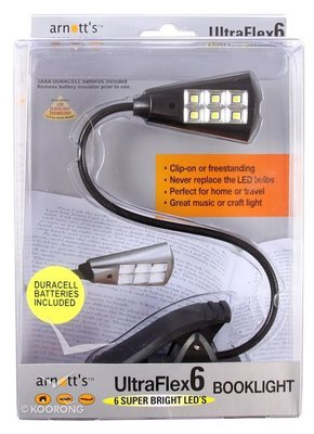 UltraFlex6 Black LED Booklight (SM-6LED-BLK)