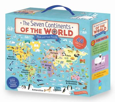 The Seven Continents of the World Book & Floor Puzzle