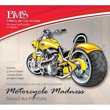 Motorcycle Madness Stencil Art