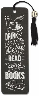 Coffee and Books Beaded Bookmark