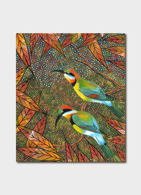 Card - Oral James Roberts Rainbow Bee Eaters