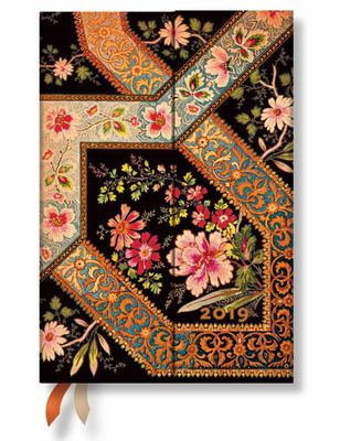 2019 Filigree Floral Ebony Mini Day-at-a-Time Diary
