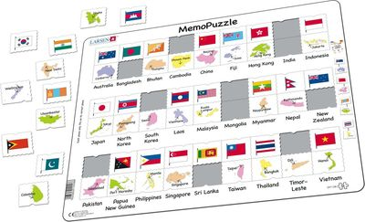 Asia Pacific Flags Puzzle