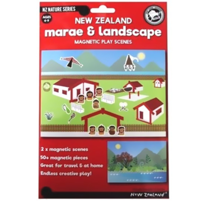 NZ Marae and Landscape Magnetic Play Scenes