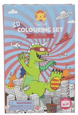 Sci-Fi Fun 3D Colouring Set