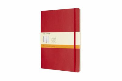 Scarlet Red Extra Large Ruled Soft Cover Moleskine Notebook