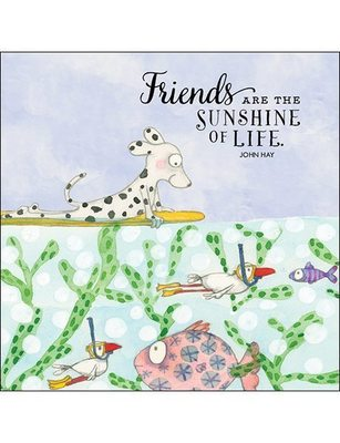 CARD - FRIENDS ARE THE SUNSHINE OF LIFE