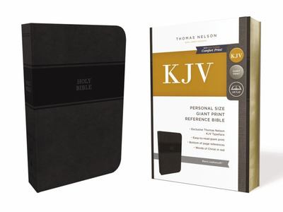 KJV Reference Bible Personal Size Giant Print Black Red Letter Edition