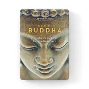 Thoughts of the Buddha: 24 enlightened quotations for everyday guidance (24 Affirmation Cards)  DTB