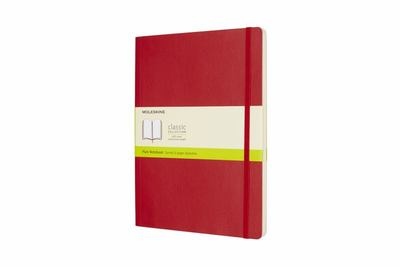 Scarlet Red Extra Large Plain Soft Cover Moleskine Notebook