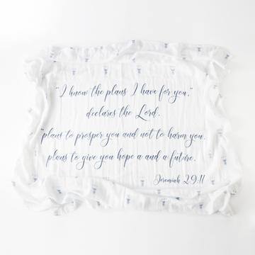 The plans he has for you baby swaddle
