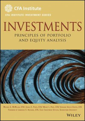 Investments - Principles of Portfolio and Equity Analysis