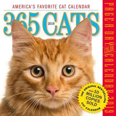 2019 365 CATS COLOUR PAGE-A-DAY CALENDAR