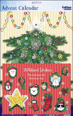 Decorate your Christmas Tree Advent Calendar (with Stickers)