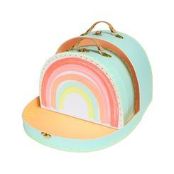 Rainbow Set of 2 Suitcases