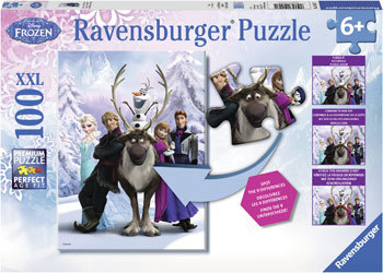 Disney Frozen Difference 100 Piece Puzzle