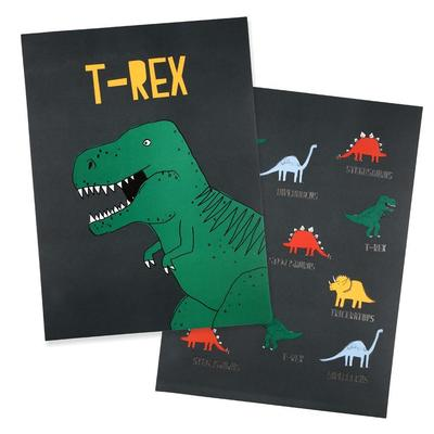 T-rex and Dinosaur Art Print (2 prints)