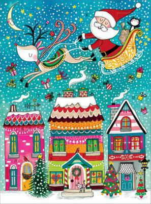 Advent Calendar - Santa Over Rooftops Flitter X18RED ADC24)