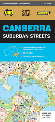 Canberra Suburban Streets Map 259 37th Ed